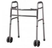 Cardinal Health Heavy Duty Folding Walker with Wheels