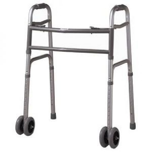 Cardinal Health Heavy Duty Folding Walker with Wheels